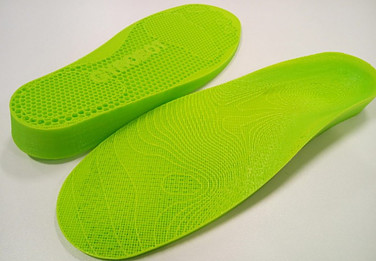 Image of 3D printed insoles created with Gensole design tool