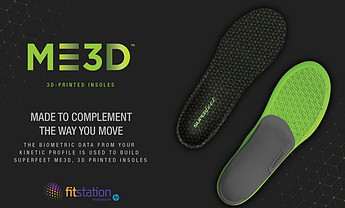 Image of Superfeet ME3D 3D printed insoles